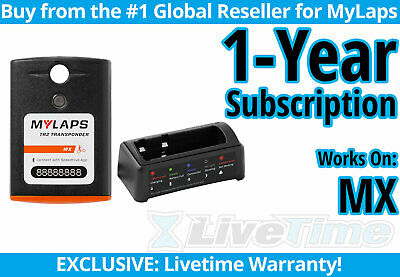 MyLaps TR2 MX motocross Rechargeable Transponder w 1-year Subscription