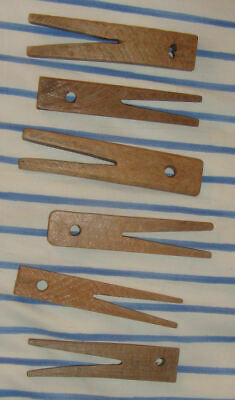 Antique Wood Clothespins Clothes Pin Peg Wooden Hand Made Vintage Old Laundry