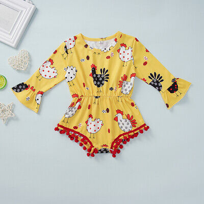 Thanksgiving Infant Baby Girl Autumn Long Sleeve Romper Jumpsuit Clothes Outfits