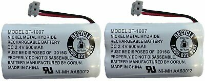 NEW Genuine Uniden BT-1007 BT1007 Rechargeable Cordless Phone Battery 2-Pack