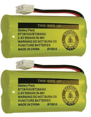 New Battery BT184342 BT284342 for AT-T Vtech GE RCA and Clarity Phones 2 Pack