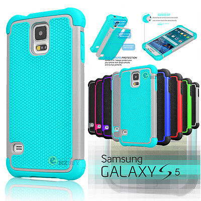 For Samsung Galaxy S5 i9600 Hybrid Shockproof Rubber Protective Hard Case Cover