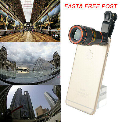 12x Optical Zoom Lens Telescope Telephoto Clip Mobile Cell Phone Camera US