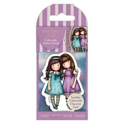 Gorjuss 72 Friends Walk Together Mini Collectible Rubber Stamp