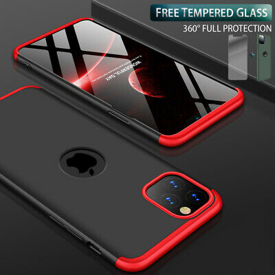 Slim Hybrid Shockproof Thin Case Cover Tempered Glass for iPhone 12 11 Pro Max