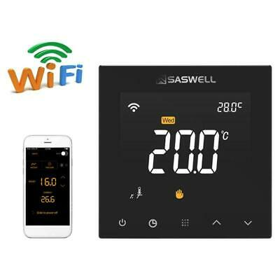 WIFI Smart Thermostat Control for Water Floor Heating Room 7 Days Programmable