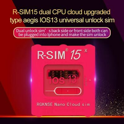 R-SIM15RSIM14- Nano Unlock RSIM Card for iPhone 11 Pro Max X XR MAX 8 iOS13 Lot