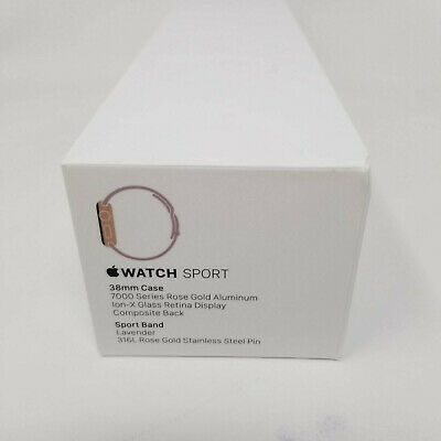 Apple Watch Series 1 Rose Gold EMPTY BOX 38mm RG AI Lavender Sport BOX ONLY