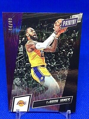 2019 Panini National Silver LeBRON JAMES Rapture Card d99 - Lakers