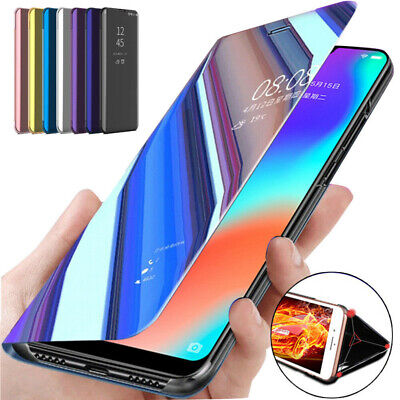 Mirror Smart Flip Stand Case Cover Samsung Galaxy Note 20 Note 10 S8 S9 S10 S20