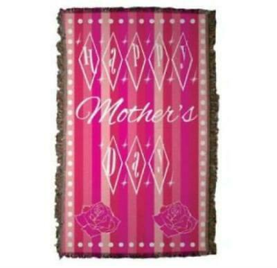 Mothers Day Woven Throw Blanket