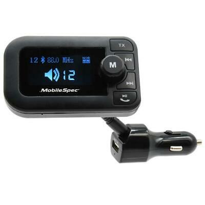 MobileSpec MBS13203 12VDC FM Transmitter with 2-1A USB and Large Display