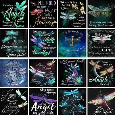 Dragonfly 5D DIY Full Drill Diamond Painting Embroidery Cross Stitch Kit Craft