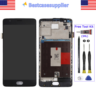LCD Display Screen Touch Digitizer Frame Replace For Oneplus 3  3T A3000 A3003
