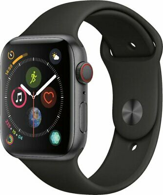 Apple Watch Series 4 44mm Space Gray Aluminum Black Sport Band GPS - Cellular
