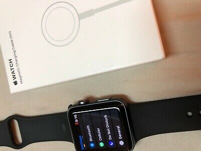 Apple Watch Series 3 Cellular-GPS Unlocked Aluminum - Space GreyBlack