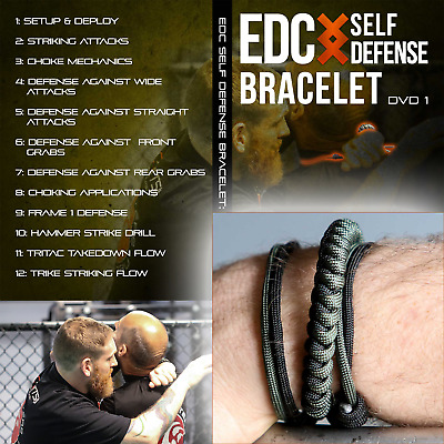Wearable EDC Self Defense Survival Weapon Bracelet - Instructional Training DVD