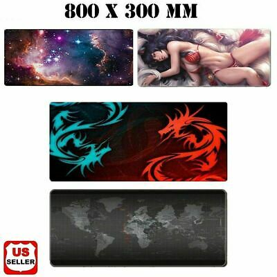 New Extended Gaming Mouse Pad Large Size Desk Keyboard Mat Soft Thick 31x 11-5