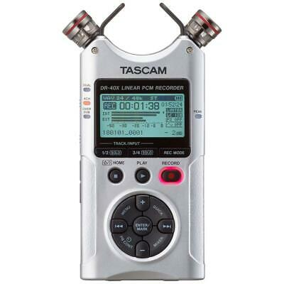 Tascam DR-40X Four-Track Digital Audio Recorder and USB Audio Interface Silver