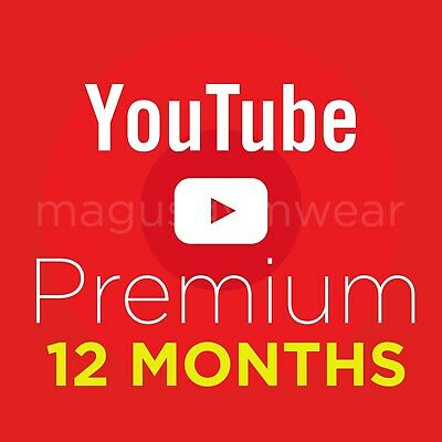 YouTube Premium W FREE YouTube Music 12 MONTHS  WORLDWIDE  INSTANT DELIVERY