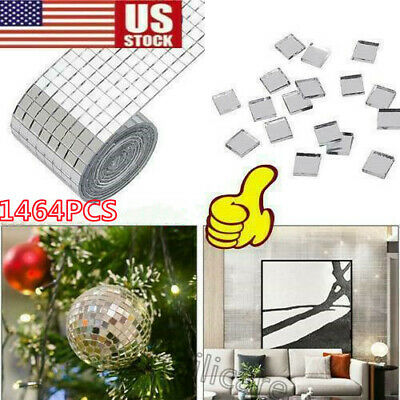 Self Adhesive Mirror Mosaic Tiles - 1464 pieces of 5mm square tiles Hot Sales
