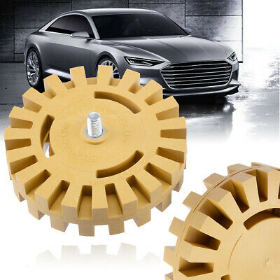 US 4 Rubber Eraser Wheel For Adhesive Sticker Pinstripe Decal Graphic Remover