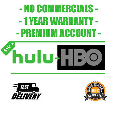 HULU PREMIUM - HBO  NO COMMERCIAL ACCOUNT 1 YEAR  INSTANT DELIVERY 30 seconds