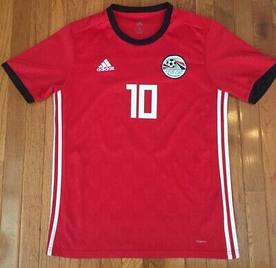 Mohamed Salah Egypt 2018-19 World Cup Home Adidas Football Soccer Jersey - Large