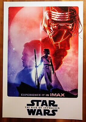 STAR WARS RISE OF SKYWALKER Official Movie 13 x 19 PREMIERE NIGHT IMAX Poster