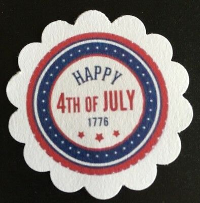 60 Happy 4th Of July 🇺🇸 Paper Gift Tags Favor Tags Treat Tags