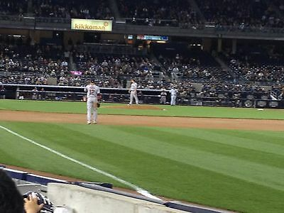 2 - Second Row Field Level Sec- 110 New York Yankees Tickets v CUBS 62720