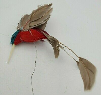 Hummingbird OrnamentAccent- Real Feathers- Bird 2 long Plus tail 3