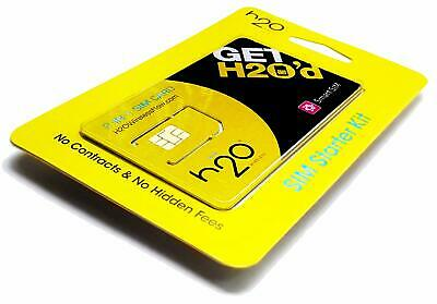 GREAT PROMOTION H2O SIM Card With 20 30 40 50 60 Plan for 1 Month 30days
