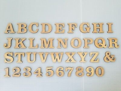 Wood Letters for Craft - Scrap Booking Laser Cut Letters - Numbers