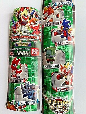 Bandai Gashapon NEW DIGITAL MONSTER Digimon Fusion Battles Set x6 Figure Limited