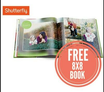 Shutterfly 8X8 Hard Cover Photo Book Code expires July 31 2020