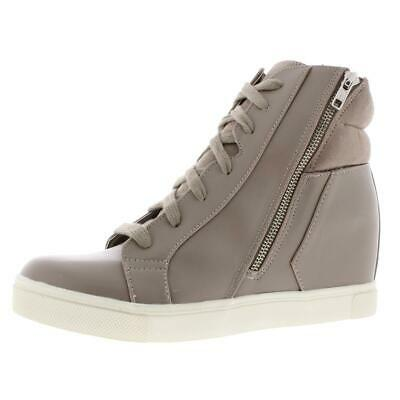Steve Madden Womens Liisa Leather Lace Up Fashion Wedge Sneaker Shoes BHFO 9425