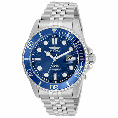 Invicta Mens Watch Pro Diver Blue Dial Stainless Steel Bracelet 30610