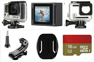 Used GoPro HERO 4 Silver 4K HD Action LCD touch screen WiFi Camera 16G SD Card