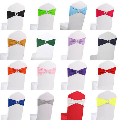 102050100 Spandex Chair Bands With Buckle Wedding Banquet Chair Sashes