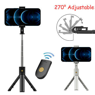 Adjustable Remote Selfie Stick Tripod Desktop Stand Desk Holder For Cell Phone
