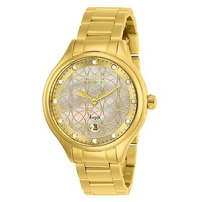 Invicta Womens Angel 27434 38mm White Dial Stainless Steel Watch