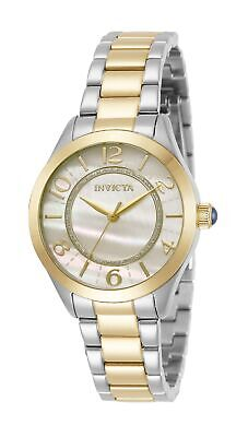 Invicta Womens Angel 31108 33mm White Dial Stainless Steel Watch
