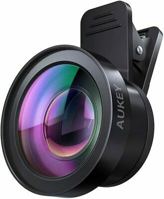 AUKEY Ora iPhone Camera Lens 0-45x 120° Wide Angle - 15x Macro Clip-on Lens