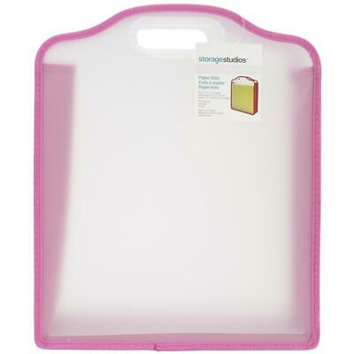 Storage Studios Expanding 12x12 Paper File Holder Pink