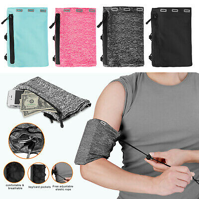 Armband Case Sports Gym Running Pouch Jogging Arm Band Cell Phone Holder Bag USA