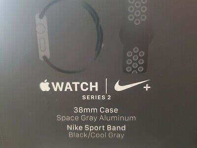 Apple Watch Series 2 Box Only NO WATCH 38MM Space Gray AluminumNike Sport Band