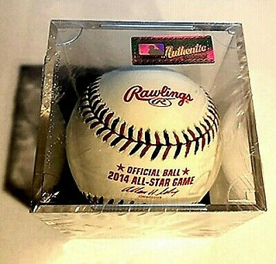 2014 ALL-STAR GAME OFFICIAL RAWLINGS  BASEBALL IN SEALED PLASTIC HOLDER