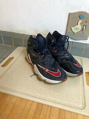 Nike Lebron James 13 XIII Team USA Basketball Shoes Blue Red White Mens Sz 8-5