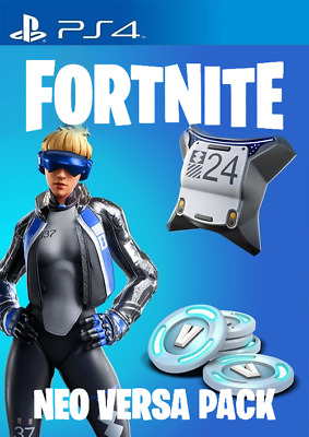 Playstation PS4 Fortnite Royale Epic Neo Versa Outfit -500 V Bucks Code